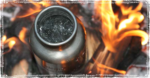 Water Bottle on a Campfire