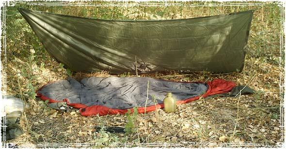 Open Tarp Shelter