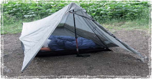 Tarp Tent Shelter Made with a Hiking Pole : walking pole tent - memphite.com