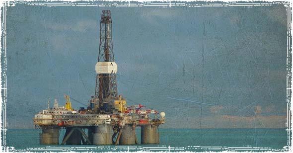 Oil Platform in the Ocean