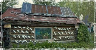 A Solar Cabin in the Woods