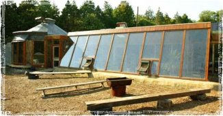Earthship home with Greenhouse