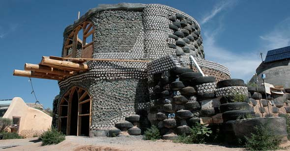 Earthship Home Under Construction