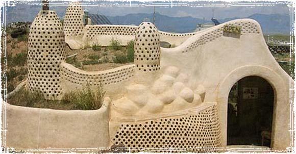 Earthship in the desert