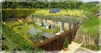 Earthship with Roof Gardens