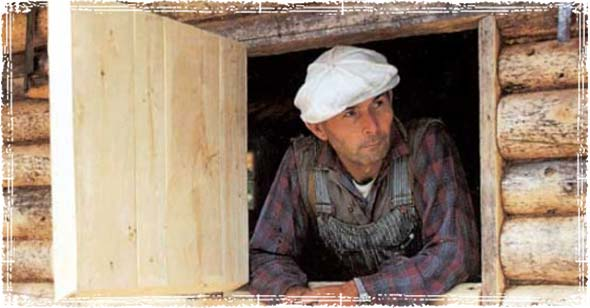 Dick Proenneke in His Cabin