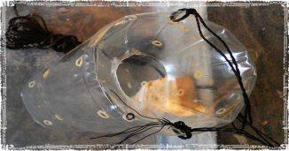 Plastic Bottle Fishing Trap with Bait inside