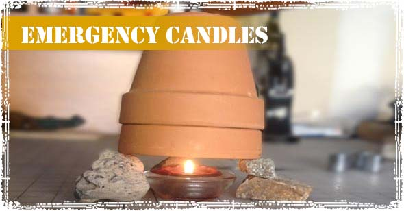 Emergency Candle used for emergency heating