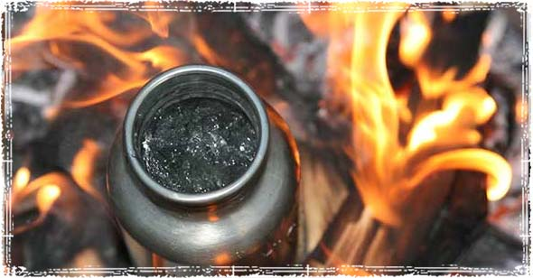 Klean Kanteen over a Fire