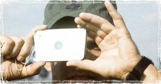 Marine using a Signal Mirror