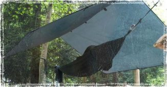 Hammock Shelter under a tarp