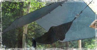Hammock Shelter under a tarp
