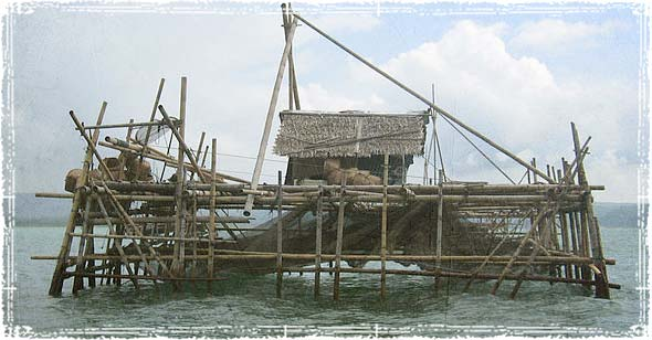 A fisherman's hut in Pangandaran