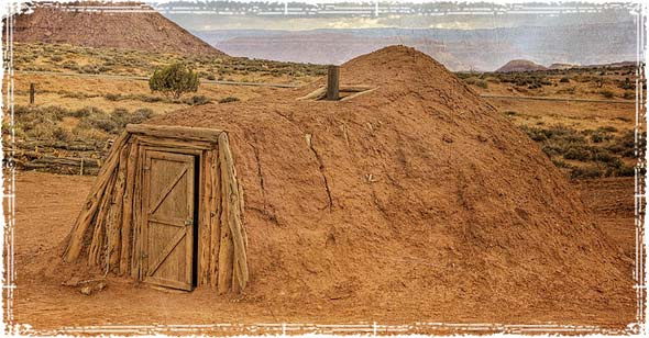 A Navajo Hogan Shelter