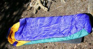 Sleeping Bag on the Forest Ground