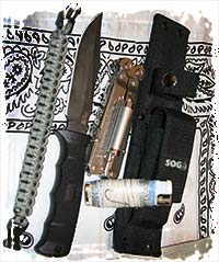 Sog knife with sheath