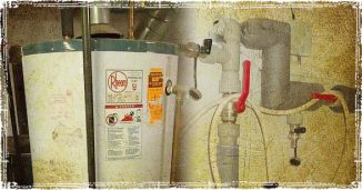 Hot Water Heater Tank and Water Pipes