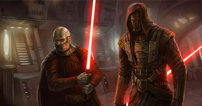 Darth Malak and Darth Revan