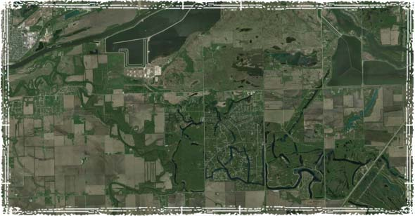 Satellite View of City: plotting out areas of resupply.