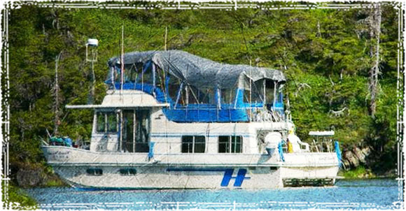 House Boat in the Ocean
