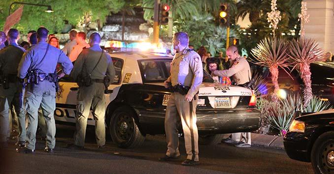 Police Making Arrests during a Riot