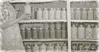 Emergency food in a Pantry