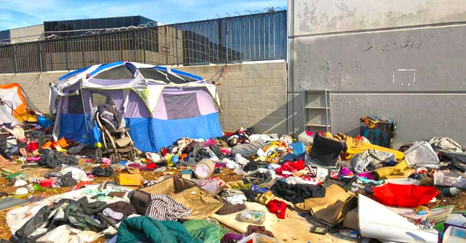 homeless camps in California