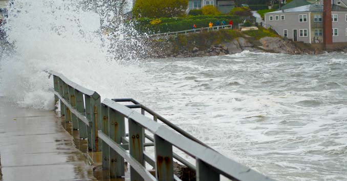 Hurricane related flooding