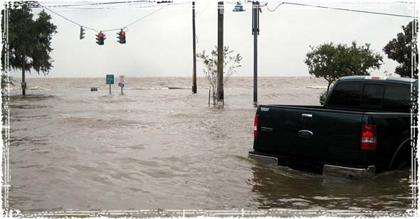 Flooding during a hurricane