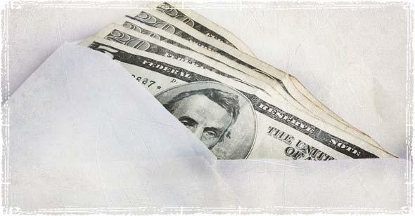 money in envelope