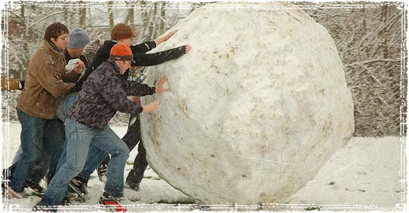 Pushing a snowball