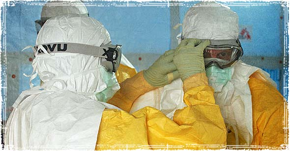 CDC in Bio-containment suits