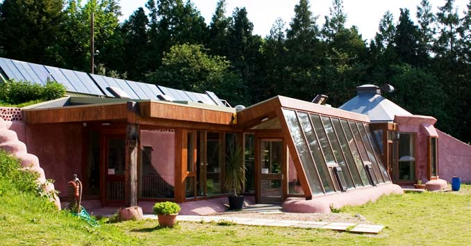 Off Grid Home with Solar Panels