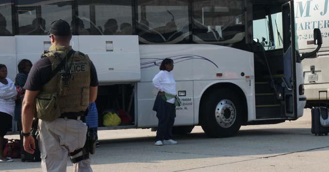 evacuation bus