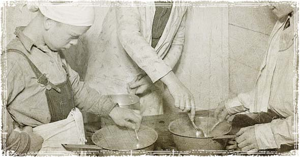 People Cooking during the Great Depression
