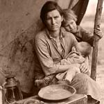 family starving during the great depression