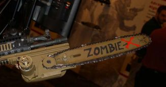 Zombie Rifle with Chainsaw