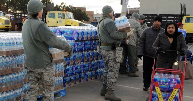 FEMA handing out water