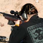 firing rifle
