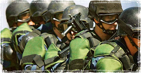 Department of Homeland Security Green Police Force