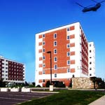 military raid on apartments