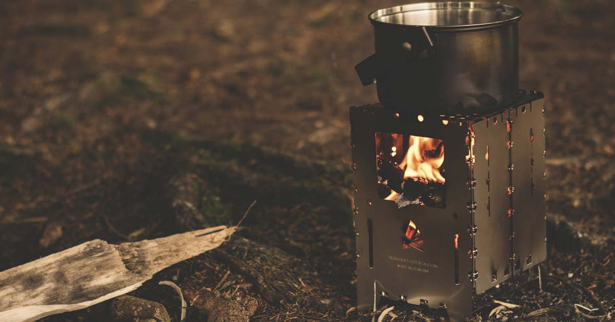 Cooking Survival Food over a bug out stove
