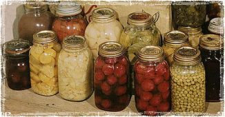 Jars of Homemade Canned foods