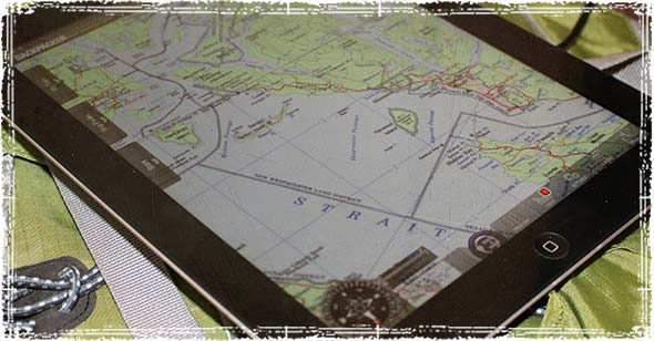 Backpacker Map App on the iPad