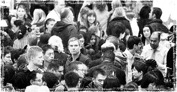 Mass amounts of people