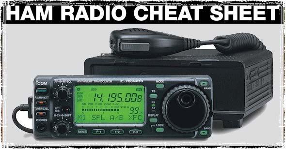 Ham Radio Cheat Sheet