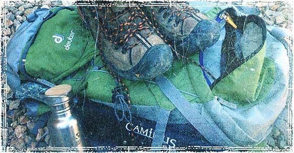 Bag full of preparedness gear