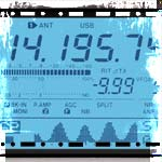 ham radio frequency display