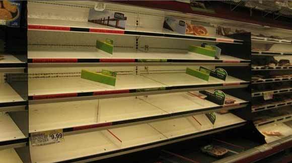 No food during Sandy