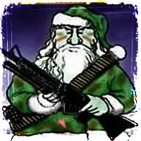 Santa Claus Dressed in Camo